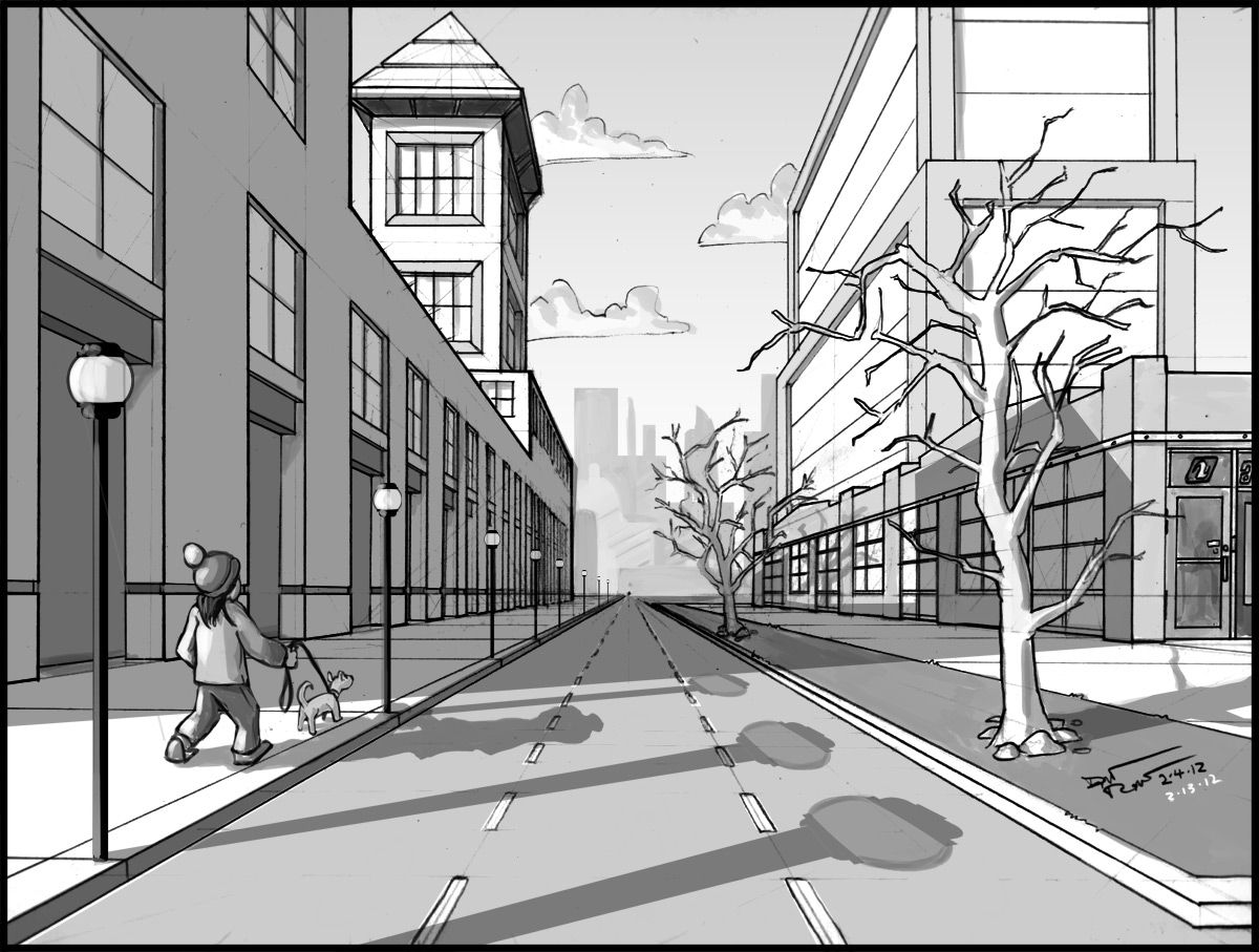 2 point perspective  Week 2 One Point Perspective Value