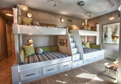 Queen Bunk Beds On Pinterest Mountain House Decor