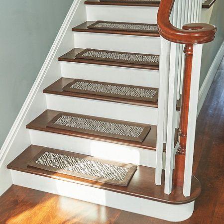 Diamond Sisal Rugs Stair Treads Design Stairwell