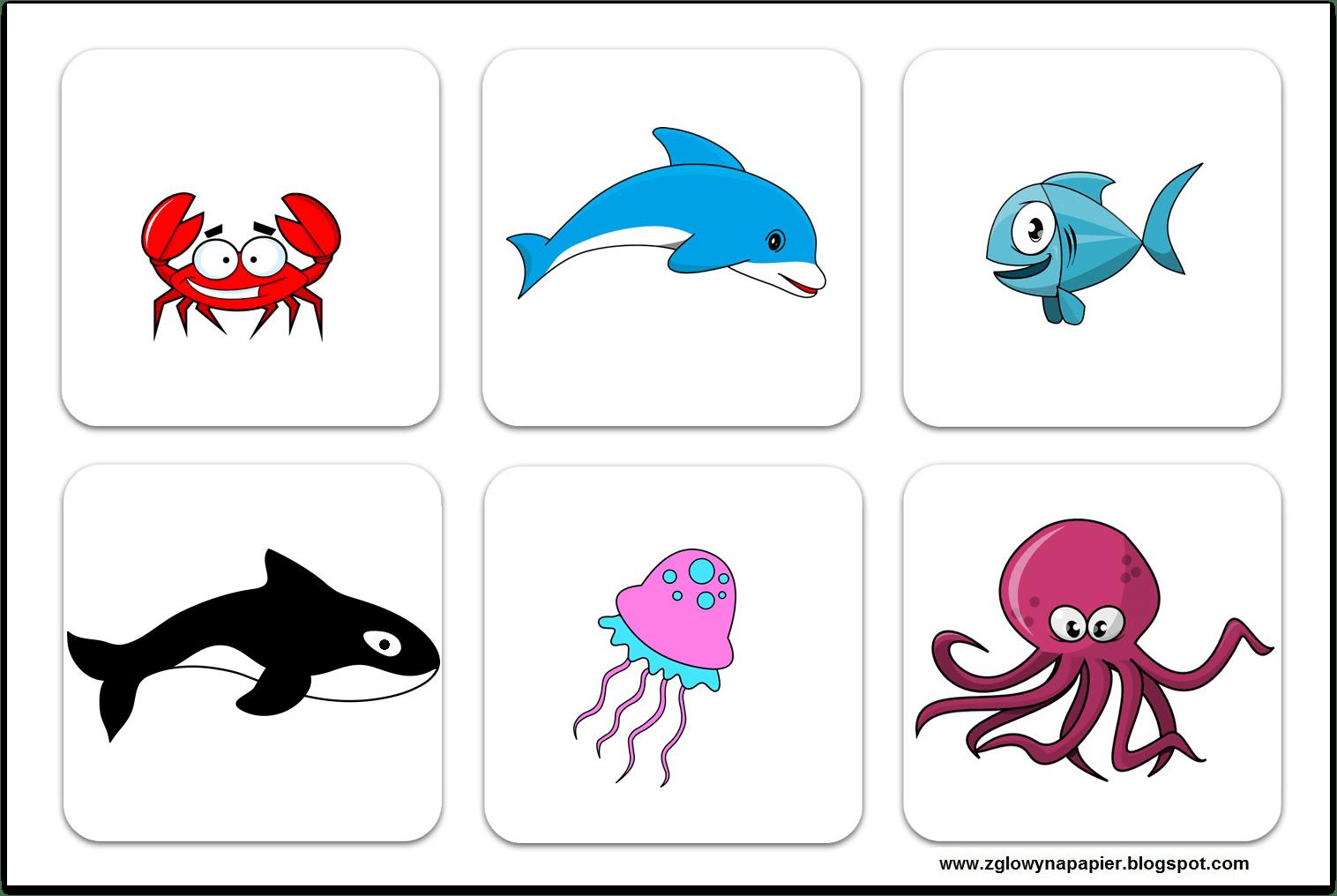 Sea Animals Bingo Game