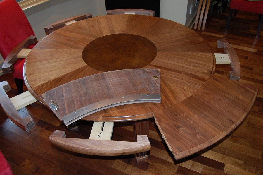 How To Select Large Round Dining Table: Expanding Round