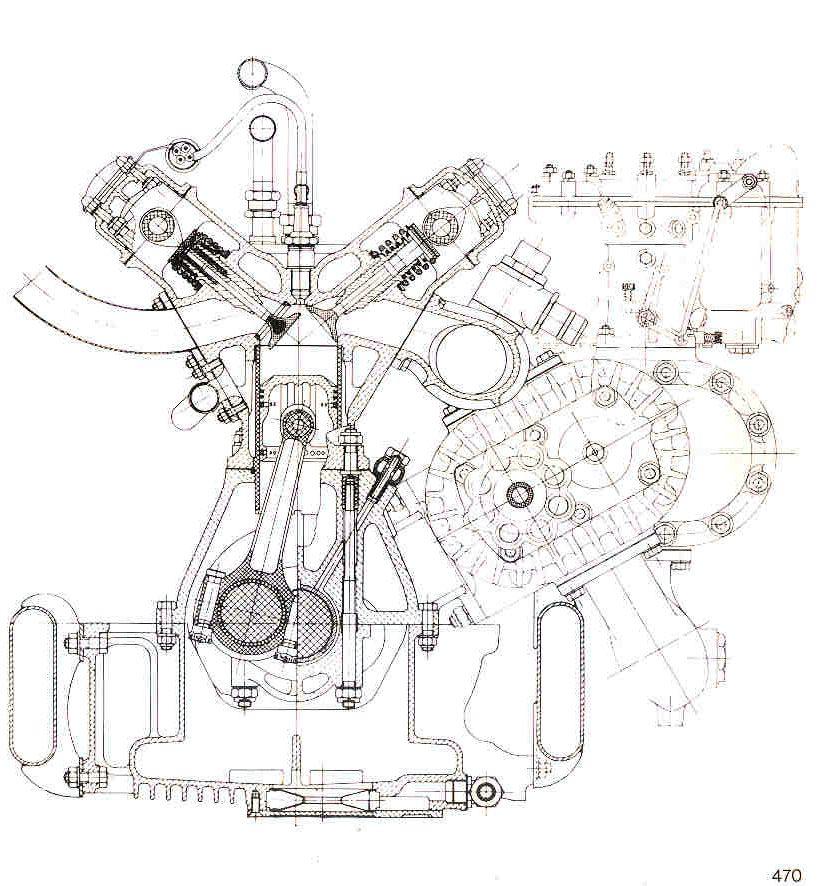 the Gioachino Colombo's 8 cylinder 1500 cc 159 engine