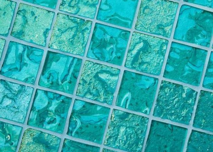 American made lightstreams gold iridescent aquamarine glass mosaic tile is  beautiful blue green aqua that can be used as pool also turquoise bathroom pinterest and teal