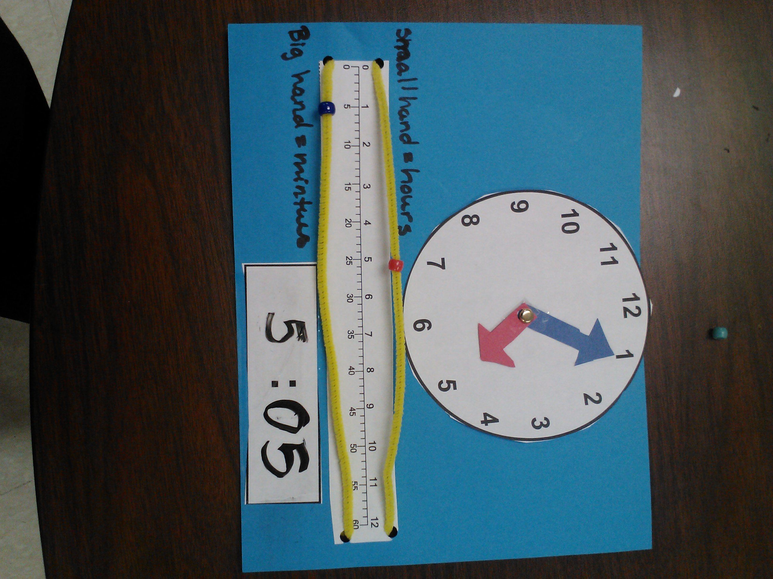 Telling Time Using A Number Line