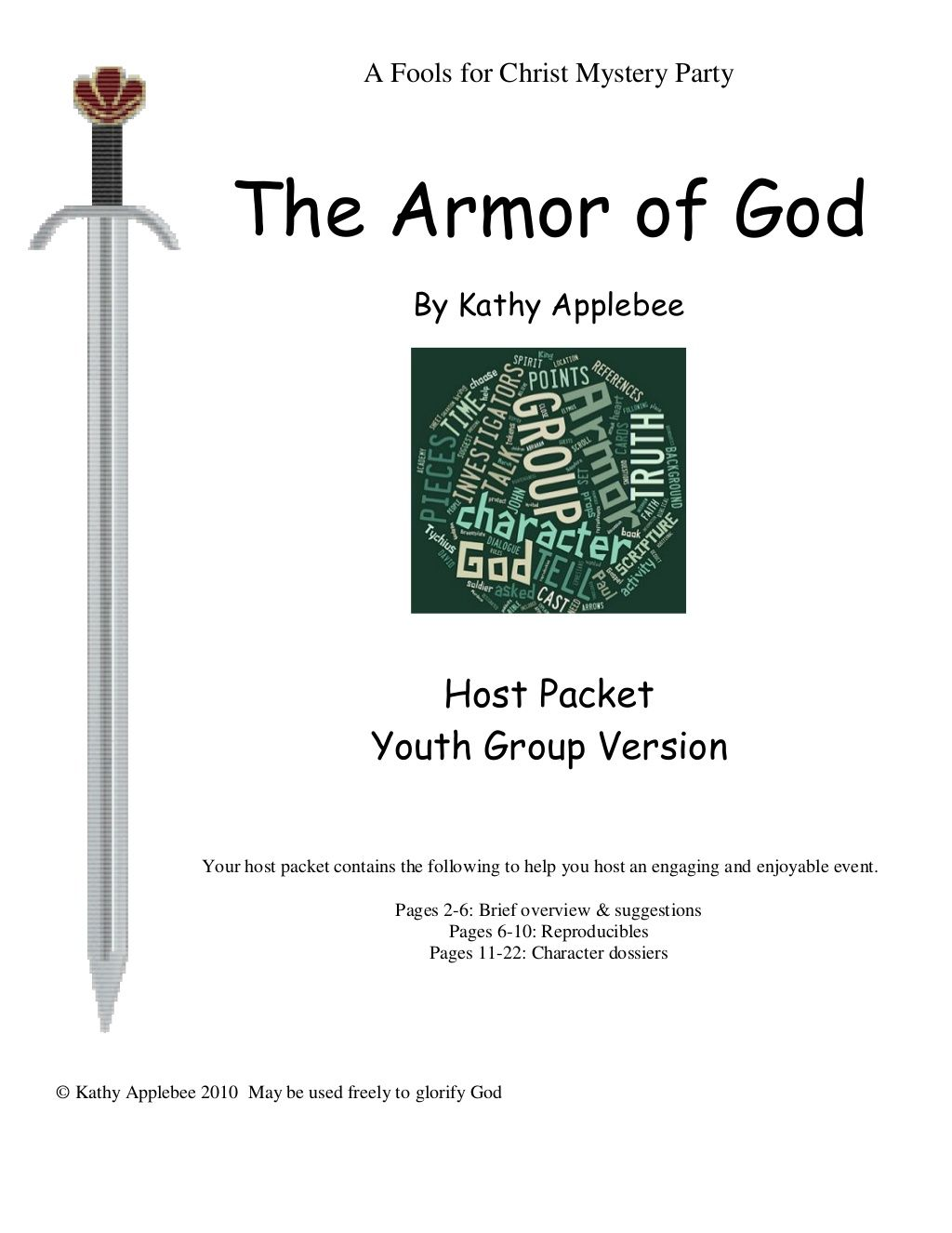 Armor Of God Mystery Activity