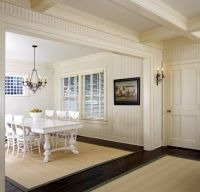 beadboard ceilings in hallway