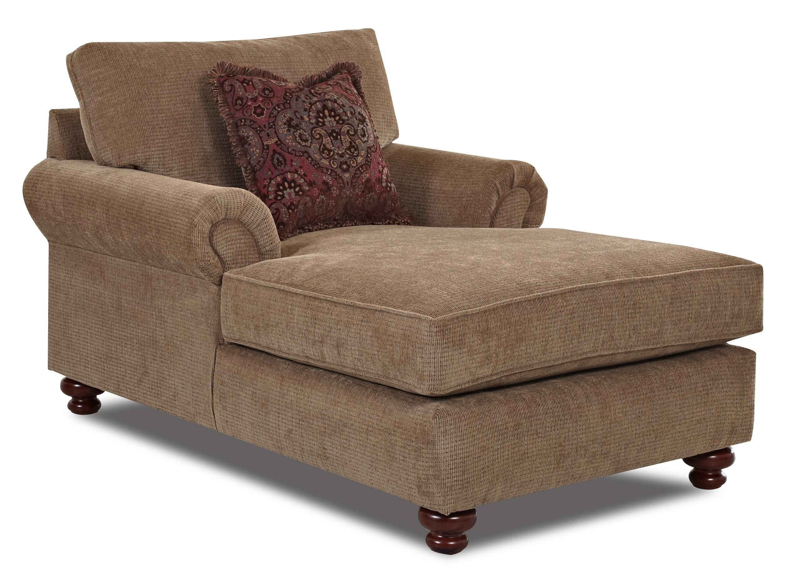 Greenvale Traditional Chaise Lounge by Klaussner  Wolf