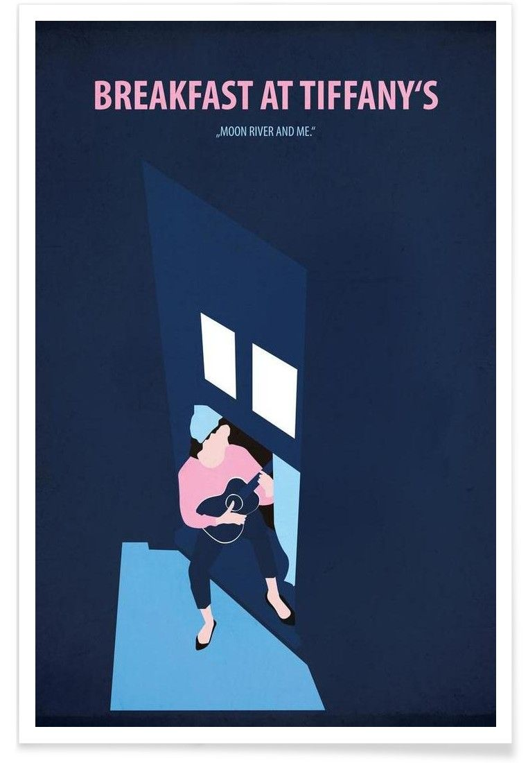 Movie poster for wall decor breakfast at tiffany   art print by fraulein fisher now on also rh pinterest