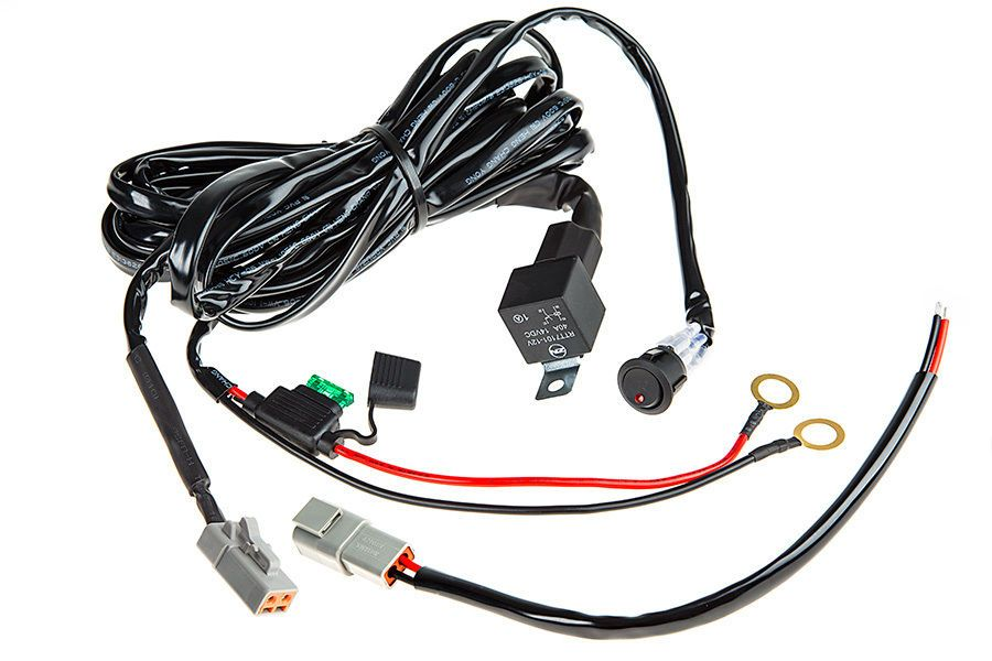 SBL LED Light Wiring Harness with Switch and Relay