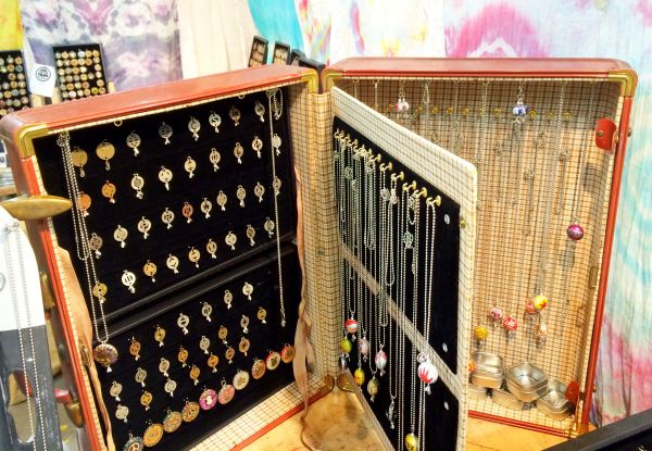 """Suitcase Jewelry Display With """"pages"""" Craft Show"""