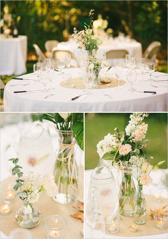 Round Table Wedding on Pinterest  Pink Table Decorations