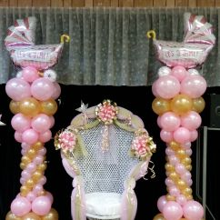 Baby Shower Chair Decorations Cheap High For Sale And Balloon Columns
