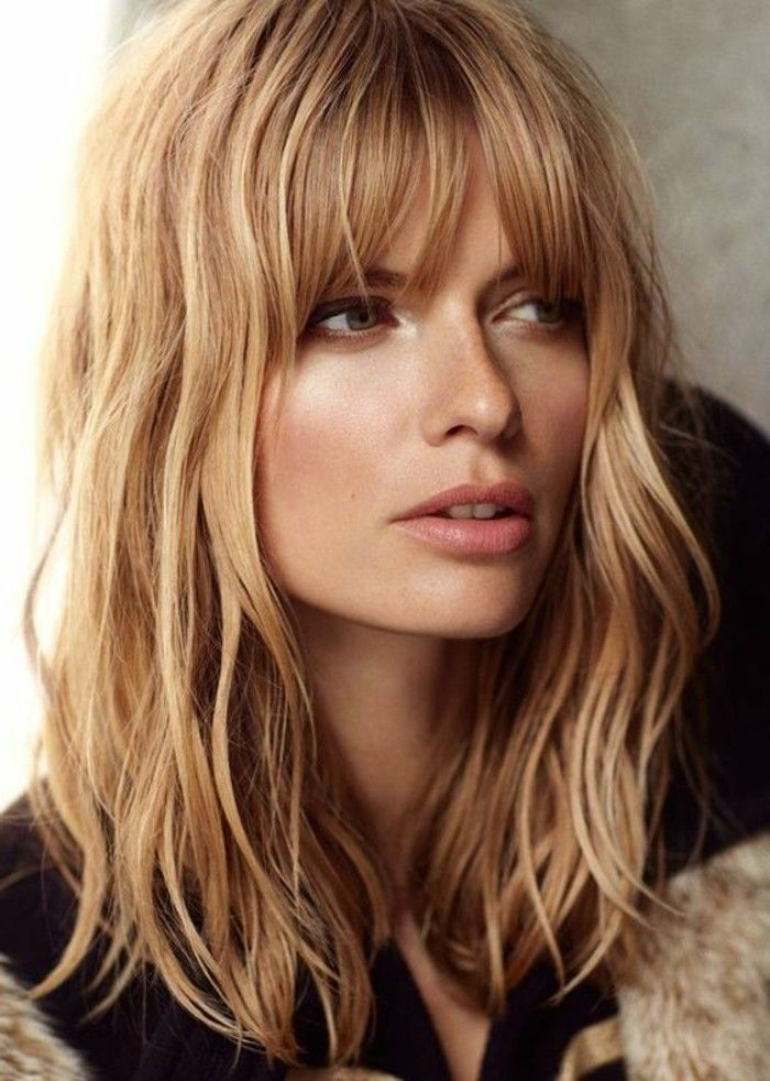 Moderne Frisuren Trends Wellig Blond Bangs Pinterest Moderne