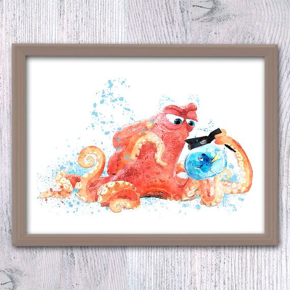 Finding Dory, Finding Nemo Wall art, Hank and Dory, Dory