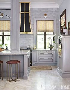 Glamorous gray showhouse kitchen traditional home also kitchens rh pinterest
