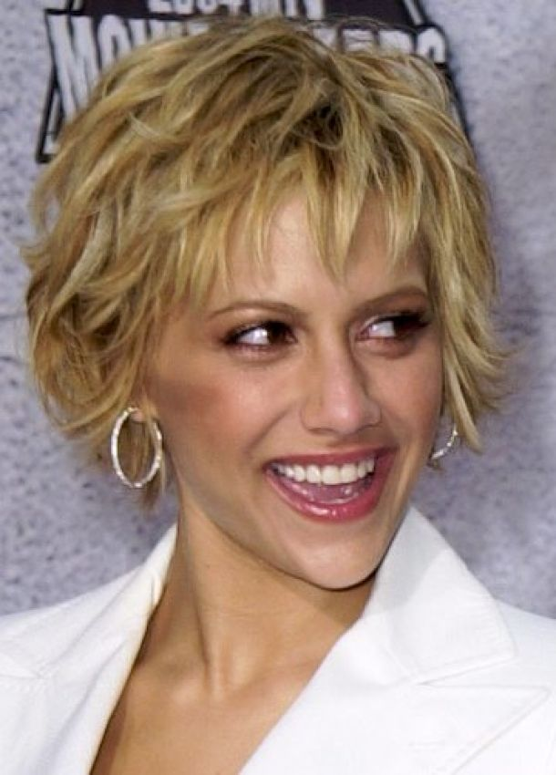 Really Cute Short Hairstyles Brittany Murphy Hair Photo