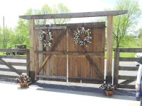 Barn doors to lead to ceremony | Wedding Decorating Ideas ...