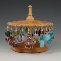 wood earring stands - Google Search | Dad | Pinterest ...