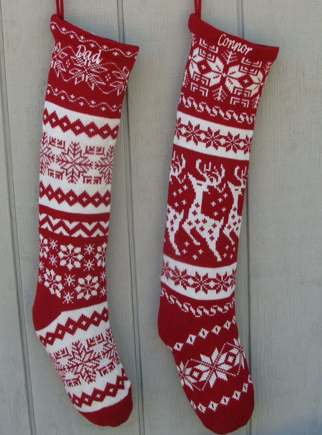 Rustic Knitted Christmas Stocking Pattern