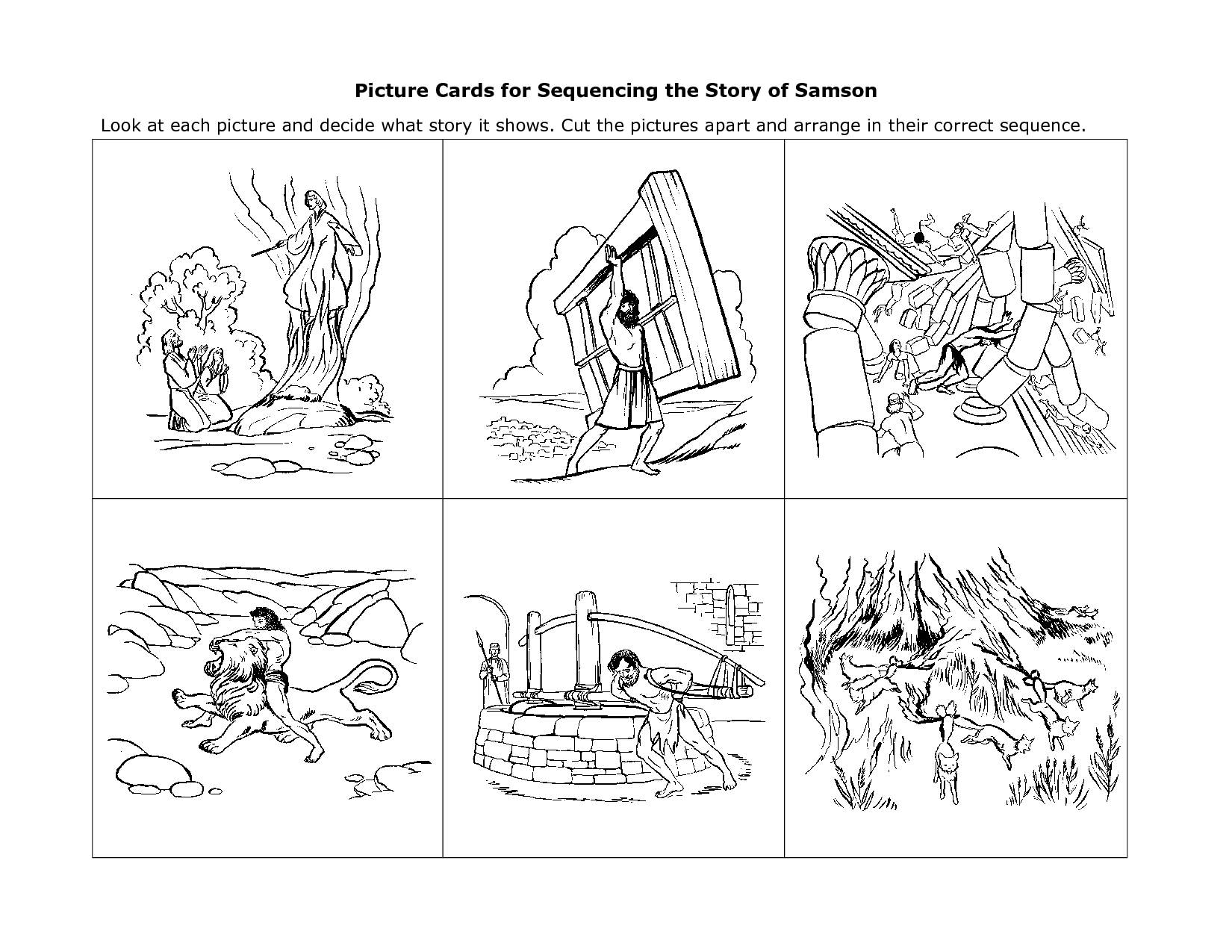 Story Sequencing Cards For Kindergarten