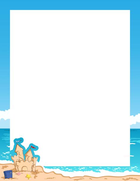 Printable seaside border Free GIF JPG PDF and PNG