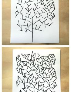 Simple drawing game draw some geometry trees from tangle art and games for kids book how to steps pinterest also rh