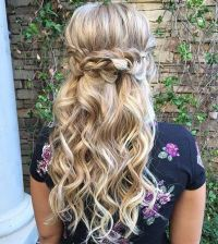 31 Half Up, Half Down Hairstyles for Bridesmaids | Crown ...