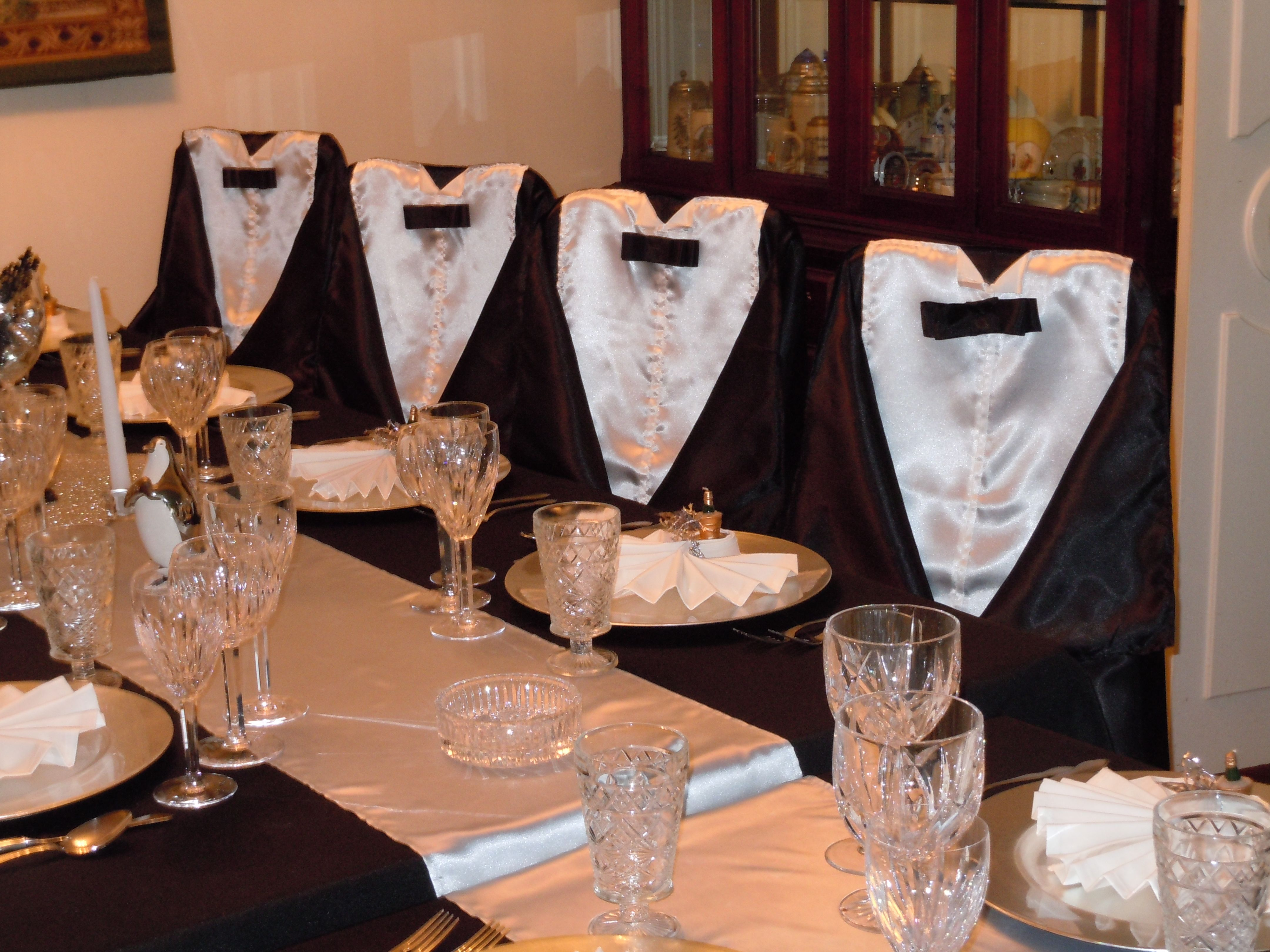 chair covers new year stand for baby years decor using sateen with white