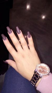 Maroon matte coffin Nails | Nails | Pinterest | Coffin ...