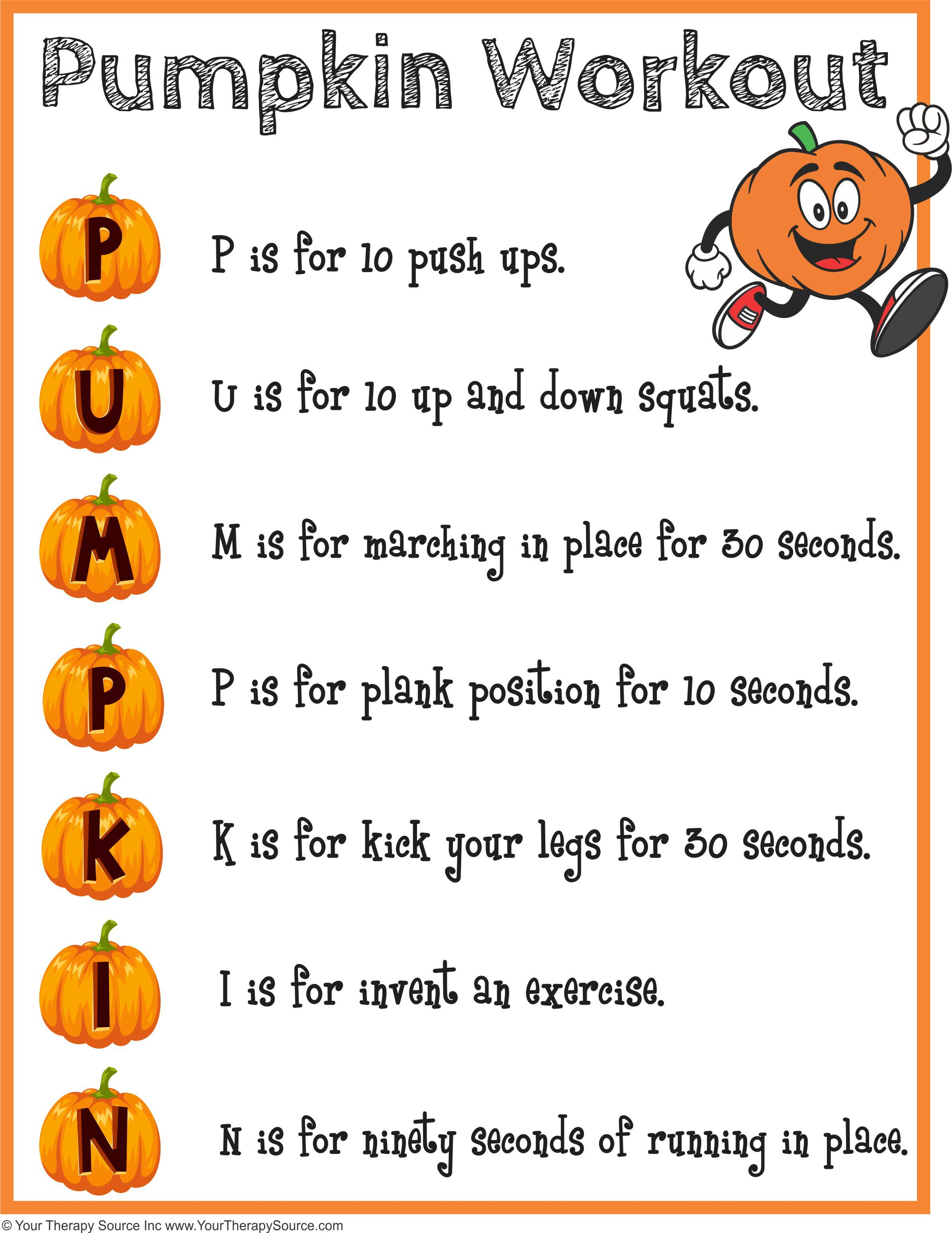 Try This Pumpkin Workout To Encourage Physical Activity