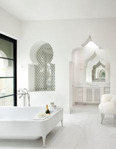 Casbah cove by gordon stein design great tub world style home decor and interior decorating ideas also white moroccan bath surprising bathrooms pinterest   rh