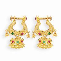 Indian Gold Earrings Designs For Girls
