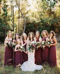 Burgundy bridesmaid dresses | bridesmaid dresses mix and ...