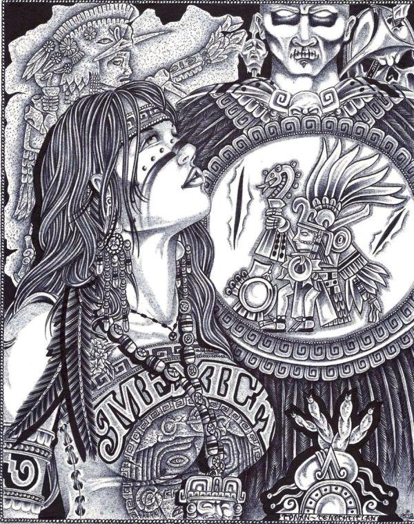 Aztec Drawing Art Crime