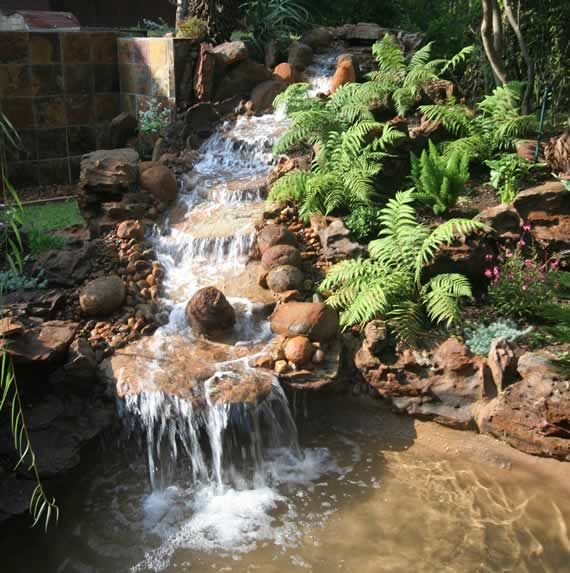 Here's A Water Feature For The Fairy Garden Hillside The