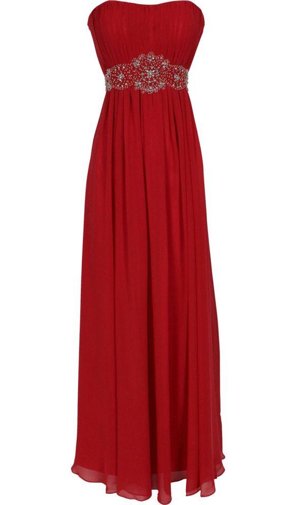 Strapless Chiffon Goddess Long Gown Prom Dress Formal Bridesmaid Junior Size