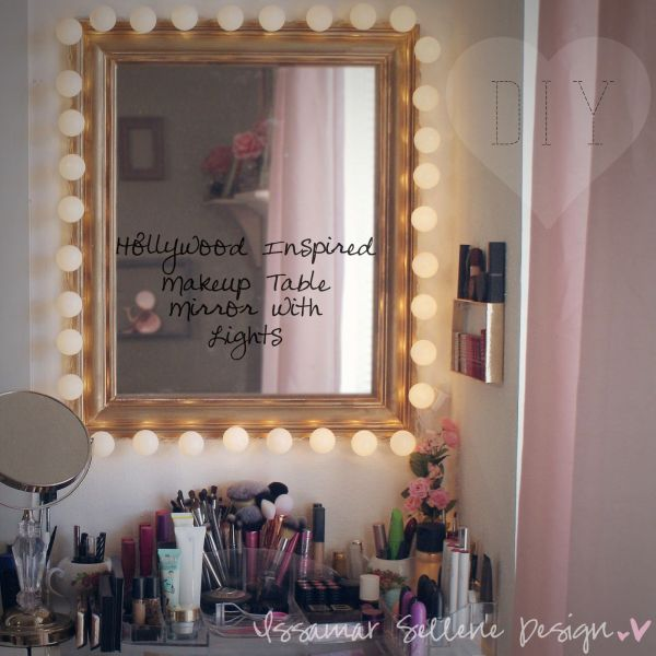 Diy Hollywood Inspired Makeup Table Mirror Lights - Make