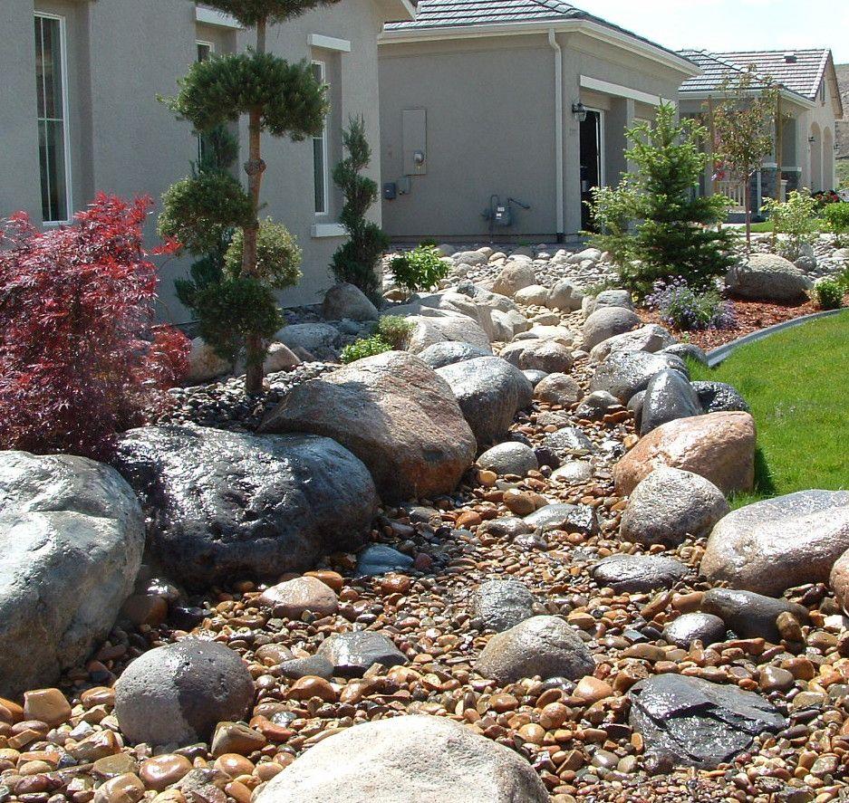 Dry River Rock Bed Landscape Design Pinterest - Boisholz