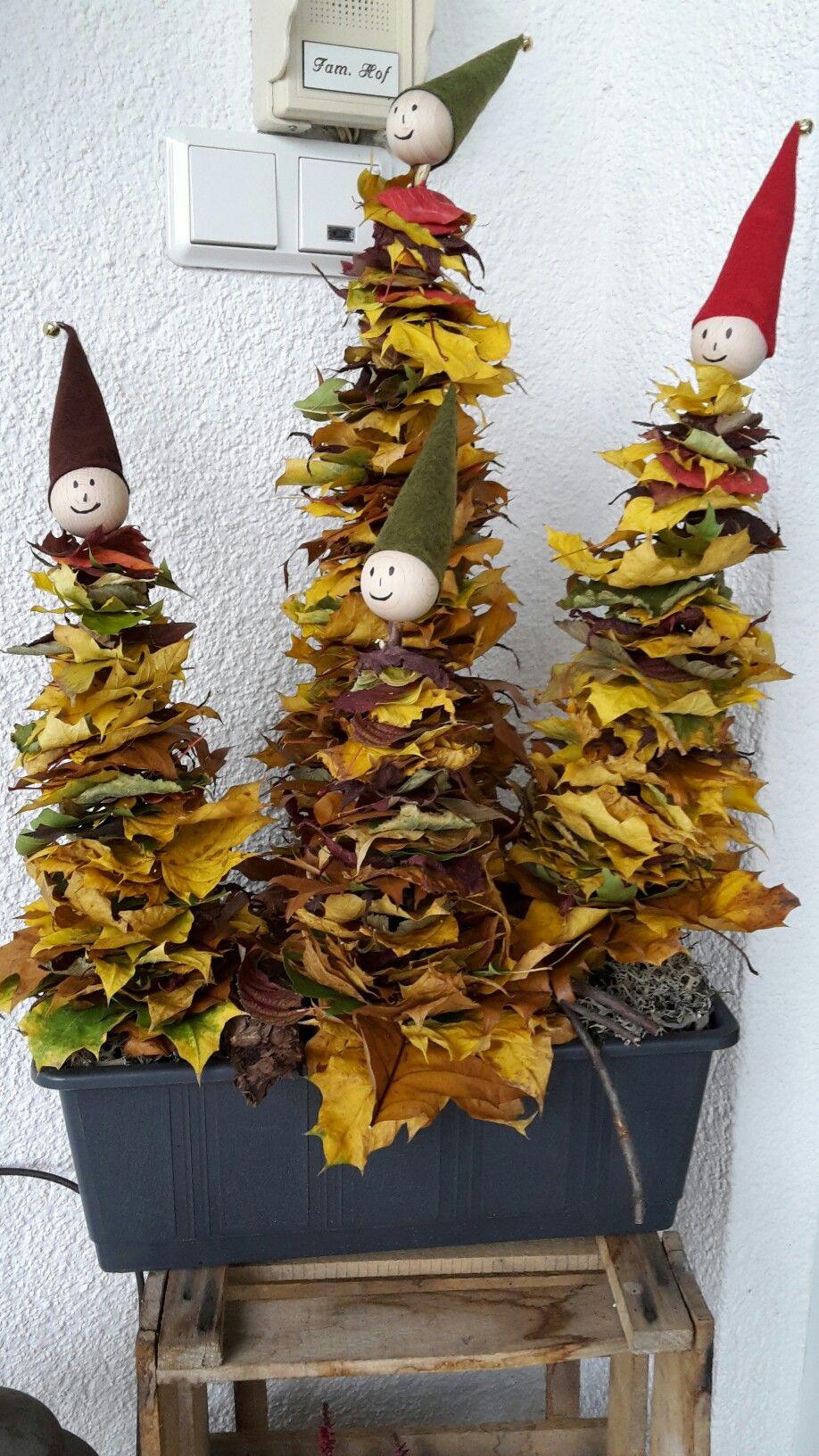 Blttermnnchen Basteln mit Kindern im Herbst  Bastelidee  Pinterest  Basteln mit kindern