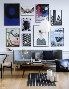 Inspirational interior design for living room also art walls rh pinterest
