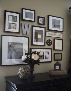 Wall gallery ideas another picture idea also love this home pinterest walls and diy tutorial rh