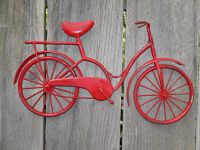 Bicycle Wall Art / Red Wall Decor / Metal Bicycle / Metal ...