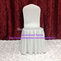Large Banquet Chair Covers Kids Sport Chairs 120pcs Pure White Pleated Skirting Cover Lycra For Wedding Events Party