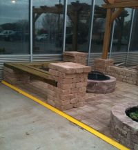 Backyard seating area around fire-pit. | Things to build ...