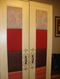 IKEA Aneboda two-door wardrobe with fabric covered ...