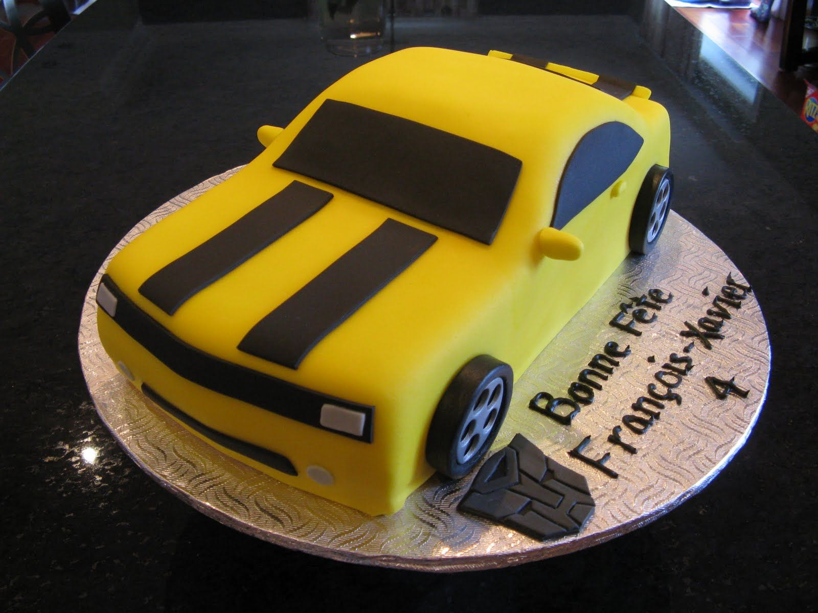 Bumble Bee Transformer Cake Idea For Liam