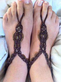 Macrame Barefoot Sandals Patterns
