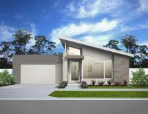 Modern Skillion Roof Home- Facade