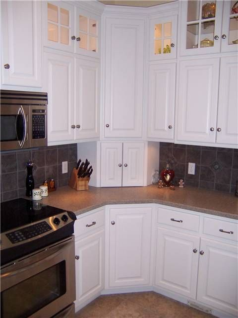 Upper Corner Kitchen Cabinet Ideas  Corner cabinets