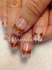 Fall nails - orange glitter | Nails! | Pinterest | Orange ...